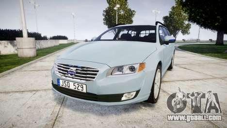 Volvo V70 2014 Swedish Police [ELS] Unmarked for GTA 4
