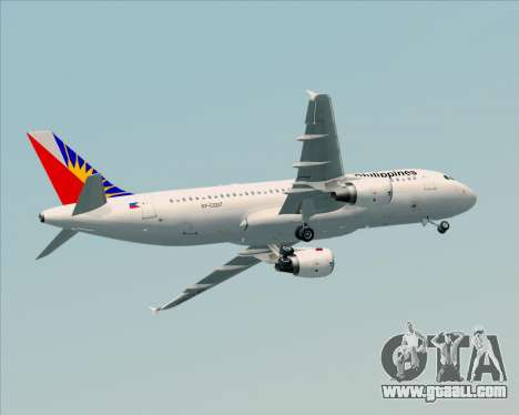 Airbus A320-200 Philippines Airlines for GTA San Andreas upper view