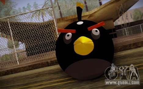Black Bird from Angry Birds for GTA San Andreas third screenshot