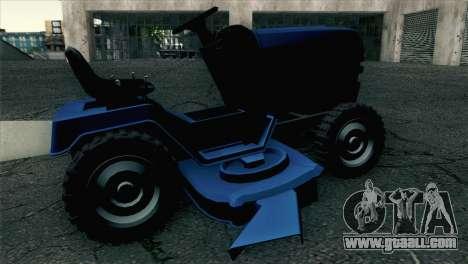 GTA V Mower for GTA San Andreas back left view