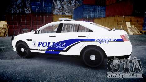 Ford Taurus 2014 Liberty City Police [ELS] for GTA 4 left view