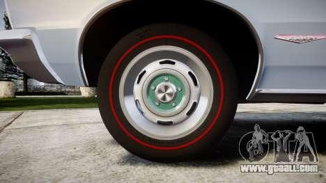 Pontiac GTO 1965 skull for GTA 4 back view