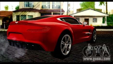 Aston Martin One-77 Black Beige for GTA San Andreas left view