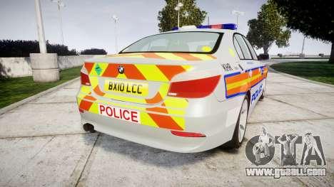BMW 525d E60 2010 Police [ELS] for GTA 4 back left view