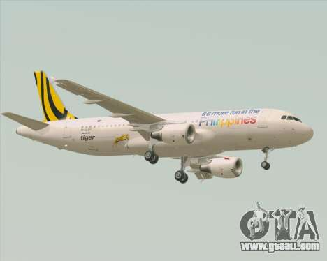 Airbus A320-200 Tigerair Philippines for GTA San Andreas back view