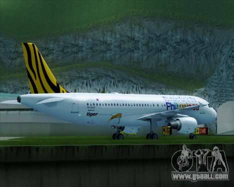 Airbus A320-200 Tigerair Philippines for GTA San Andreas right view