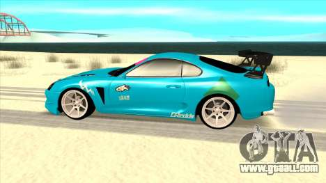 Toyota Supra Blue Lightning for GTA San Andreas left view