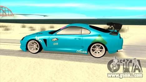 Toyota Supra Blue Lightning for GTA San Andreas left view