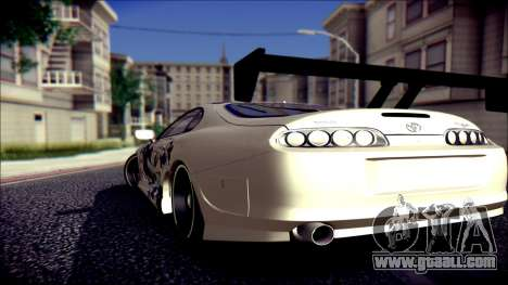Toyota Supra Street Edition for GTA San Andreas left view