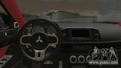 Mitsubishi Lancer Evolution X Racing Miku 2014 for GTA San Andreas back left view