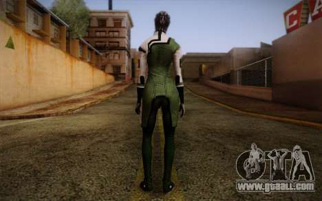 Liara T Soni Scientist Suit from Mass Effect for GTA San Andreas second screenshot