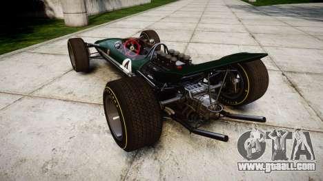 Lotus Type 49 1967 [RIV] PJ3-4 for GTA 4 back left view
