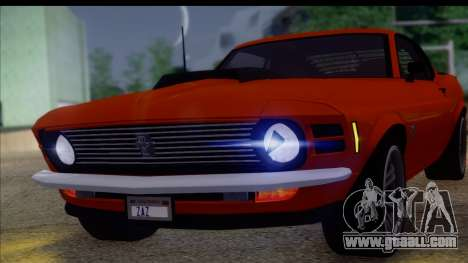 Ford Mustang Boss 429 1970 for GTA San Andreas back left view
