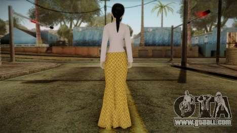 Kebaya Girl Skin v1 for GTA San Andreas second screenshot
