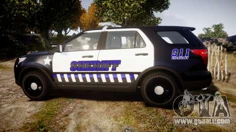 Ford Explorer 2013 Sheriff [ELS] v1.0L for GTA 4 left view