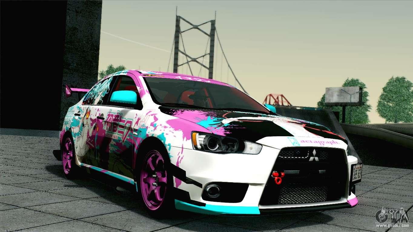gta mitsubishi lancer evolution racing san andreas miku cars 2008 sa gtaall