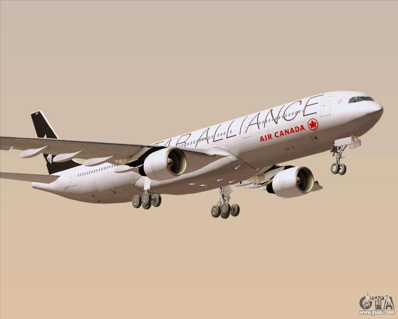 Airbus A330-300 Air Canada Star Alliance Livery for GTA San