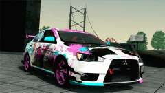 Mitsubishi Lancer Evolution X Racing Miku 2014 for GTA San Andreas