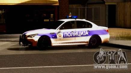 BMW M5 E60 POLICIJA for GTA San Andreas