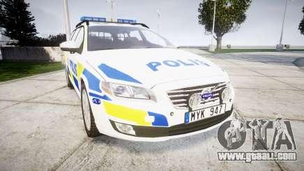Volvo V70 2014 Swedish Police [ELS] Marked for GTA 4