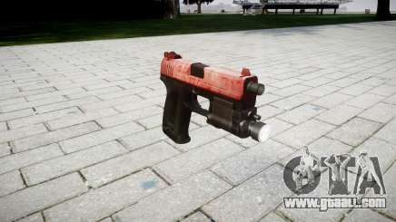 Gun HK USP 45 red for GTA 4