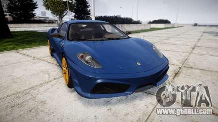 Ferrari F430 Scuderia 2007 plate Scuderia for GTA 4