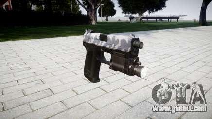 Gun HK USP 45 siberia for GTA 4