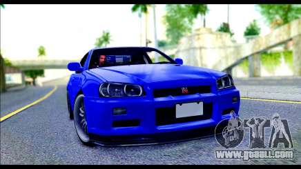 Nissan Skyline GTR R-34 from Fast and Furious 4 for GTA San Andreas