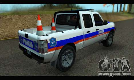 Ford Ranger 2011 Patrulleros CPC for GTA San Andreas left view