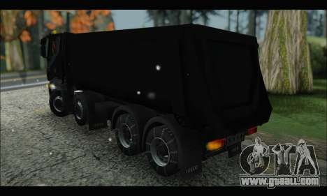 Iveco Trakker 2014 Tipper Snow (IVF & ADD) for GTA San Andreas back left view