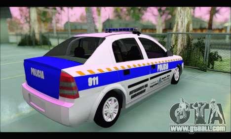 Chevrolet Astra Policia Vial Bonaerense for GTA San Andreas back left view