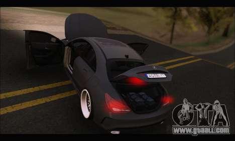 Mercedes Benz CLA 250 2014 for GTA San Andreas upper view
