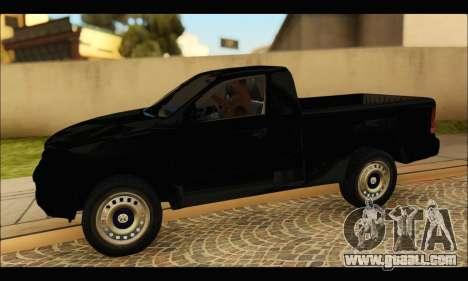 Volkswagen Amarok Cabina Simple for GTA San Andreas left view