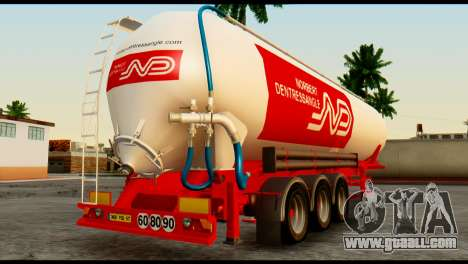 Mercedes-Benz Actros Trailer ND for GTA San Andreas left view