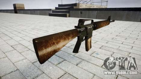 The M16A2 rifle dusty for GTA 4 second screenshot
