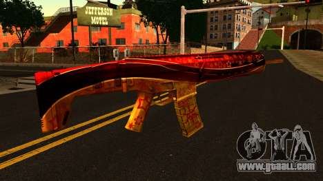 New Year's Eve Assault Rifle for GTA San Andreas second screenshot