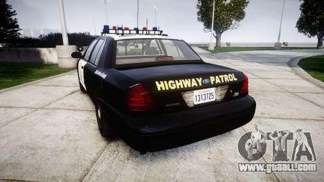 Ford Crown Victoria Highway Patrol [ELS] Vision for GTA 4 back left view