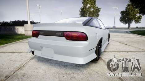 Nissan 240SX Sil80 for GTA 4 back left view
