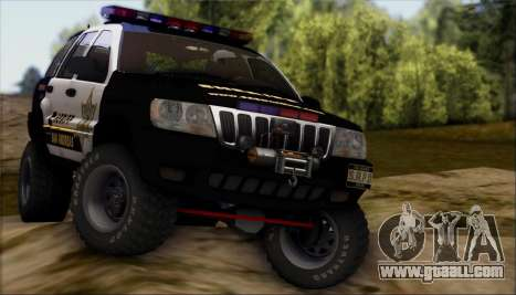 Jeep Grand Cherokee 1999 Sheriff for GTA San Andreas side view