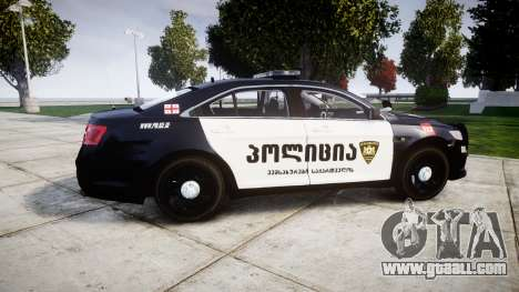 Ford Taurus 2013 Georgia Police [ELS] for GTA 4 left view