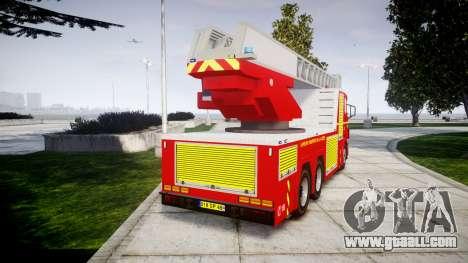 Scania R580 Paris Fireladder [ELS] for GTA 4 back left view