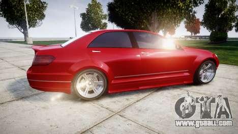 GTA V Benefactor Schafter body wide rims for GTA 4 left view