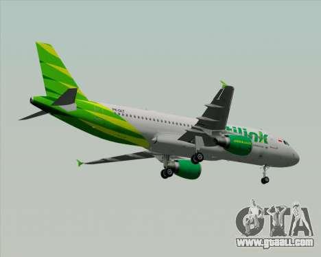 Airbus A320-200 Citilink for GTA San Andreas wheels