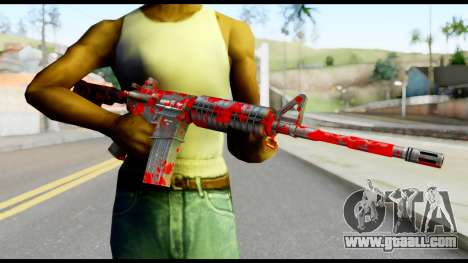 M4 with Blood for GTA San Andreas third screenshot