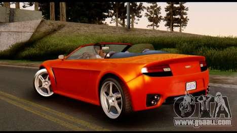 GTA 5 Dewbauchee Rapid GT Cabrio [IVF] for GTA San Andreas left view