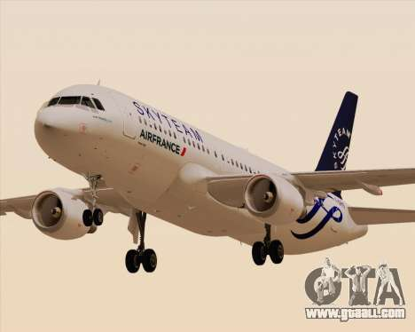 Airbus A320-200 Air France Skyteam Livery for GTA San Andreas back left view
