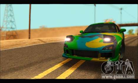 Mazda RX-7 Camo for GTA San Andreas right view