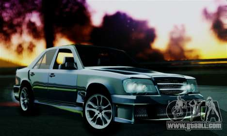Mercedes-Benz W124 BRABUS V12 for GTA San Andreas back left view