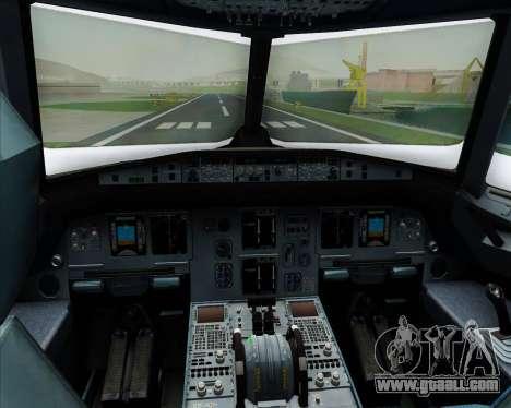 Airbus A320-200 Scandinavian Airlines - SAS for GTA San Andreas interior