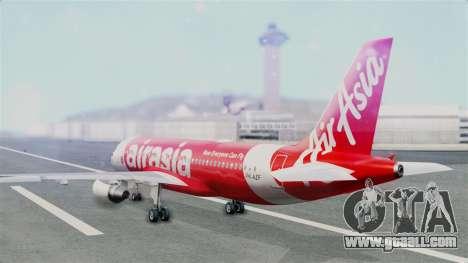 Air Asia Airbus A320 PK-AZF for GTA San Andreas left view